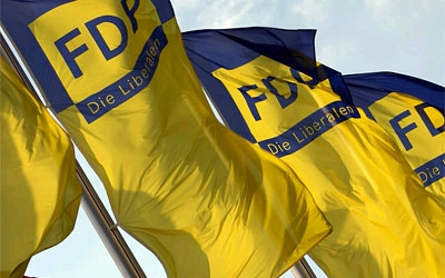 Imagebild Fahnen FDP