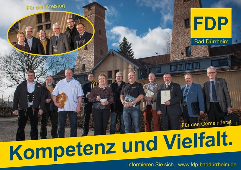 Wahlplakat der FDP Bad Dürrheim