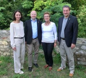 Mitglieder des Landesvorstandes der FDP Baden-Württemberg: Judith Skudelny, Michael Theurer, Andrea Kanold, Hans-Ulrich Rülke (v.l.)
