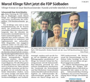 Marcel Klinge führt FDP Südbaden