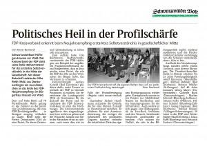Bericht zum Neujahrsempfang des FDP-Kreisverbandes im Schwarzwälder Bote