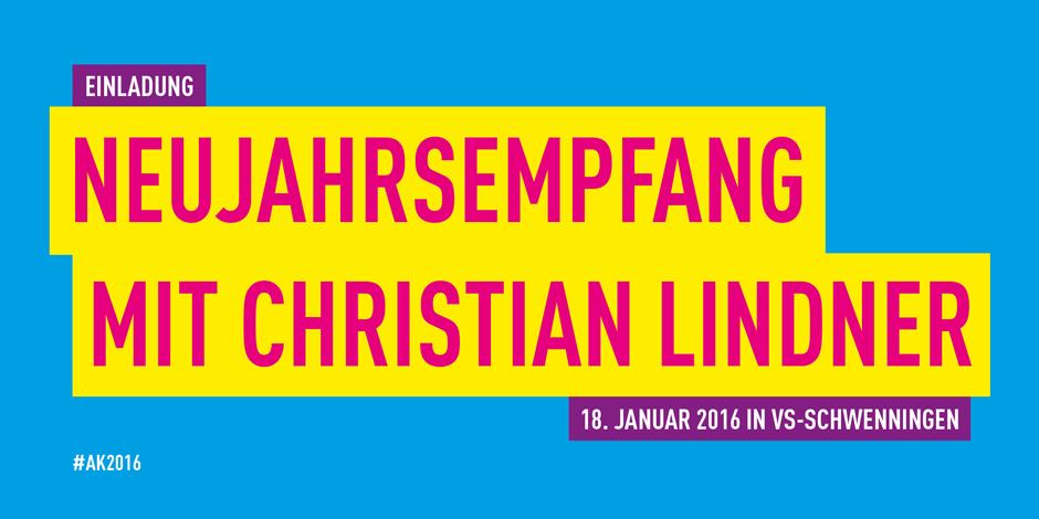 Einladung Neujahrsempfang mit Christian Lindner