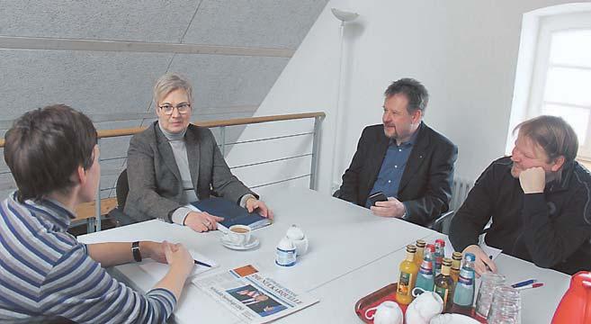 Redaktionsgespräch in der Südwest-Presse mit FDP-Kandidatin Andrea Kanold