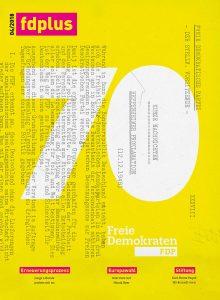 Titelbild fdplus 04/2018 - Das Mitgliedermagazin der FDP.