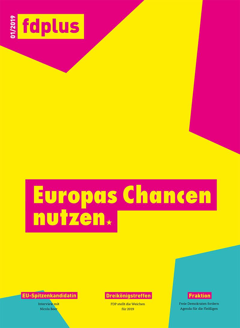 Titelbild fdplus 01/2019 - Das Mitgliedermagazin der FDP.