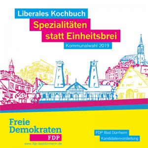 Titelbild der Broschüre FDP Kandidatenvorstellung zur Kommunalwahl 2019 in Bad Dürrheim
