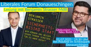 Liberales Forum Donaueschingen Lesung mit Benjamin Strasser MdB